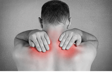 Darstellung von Schmerzen im Nacken- und Schulterbereich - Golferschulter