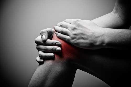 Darstellung von Schmerzen am Knie - Golferknie